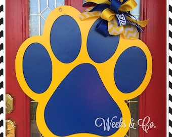 Paw Print Door Hanger Dog Lover School Pride Front Door
