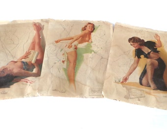 Pinup Art, Ted Withers Pinup Girls, 1950s Girlie Calendars, Nudies