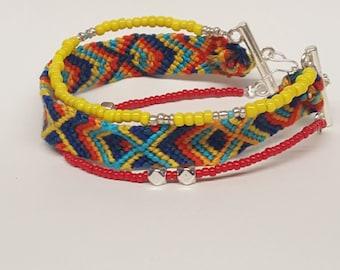 Beaded friendship bracelet