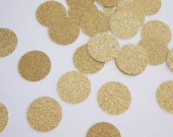 Gold Glitter Circle Confetti,  Birthday Party, Table Confetti, Shower, Wedding, Gold Party Decorations, 50 Ct., Ships in 2-3 Business Days