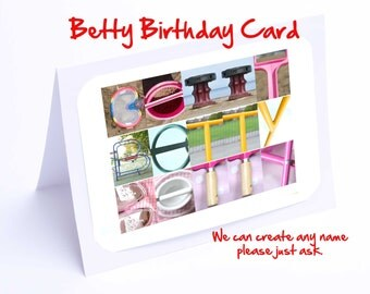 Betty Personalised Birthday Card