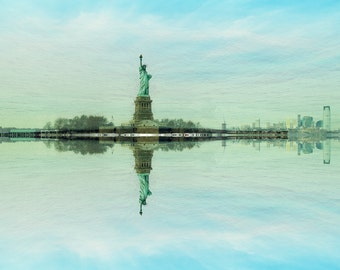 Statue of Liberty Abstract Photography Print - 12x8 inches