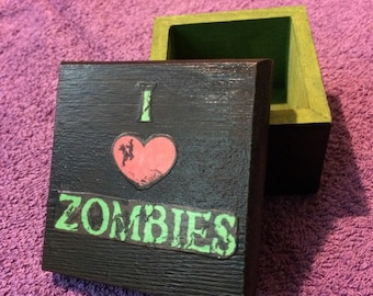 I Love Zombies Stash Box