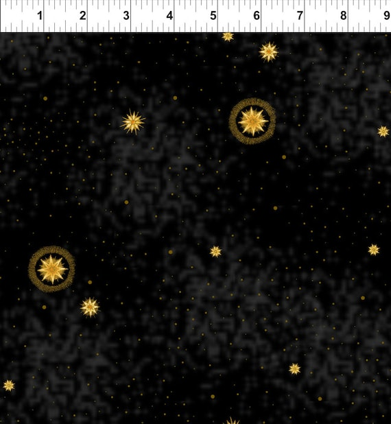 Star Points Fabric Galaxy Celestial by Jason Yenter for In