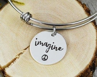 Imagine Adjustable Bangle Bracelet - Stacking Bangle