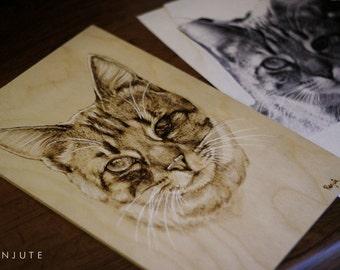 Custom pyrography pet animalwood burning
