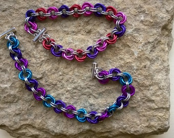 Flower Ball chainmaille bracelet - your choice of colours