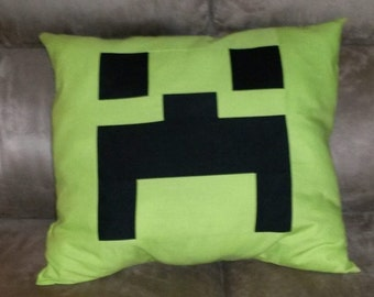 Minecraft inspired creeper cushion cover