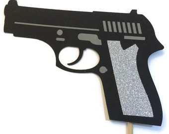 Photo Booth Props - Gun with Glitter