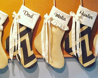Embroidered personalized Christmas  stocking