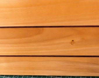 Beautiful Handcrafted Serving Board, Maple and Purple Heart