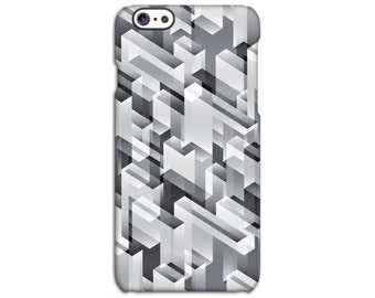 Geometric Black Patterned iPhone Case