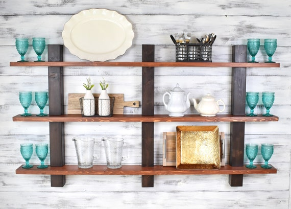 Decorative Wall Shelves For The Kitchen : Open shelving decorative shelves wall decor kitchen