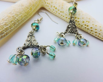 Earrings - Ice Blue Beauties