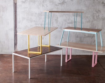Mix and Match tables // multiple sizes , finishes // in stock