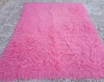VİNTAGE Turkish Pink Tülü 87x56