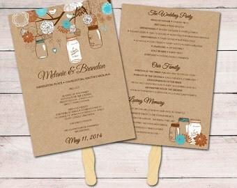 Wedding Fan Template Program DIY