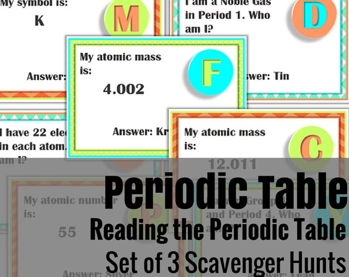 Periodic Table Scavenger Hunts - Set of 3 | A Science Activity