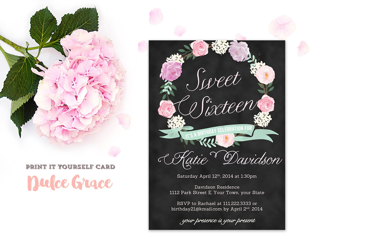 Astounding image with free printable sweet 16 invitations