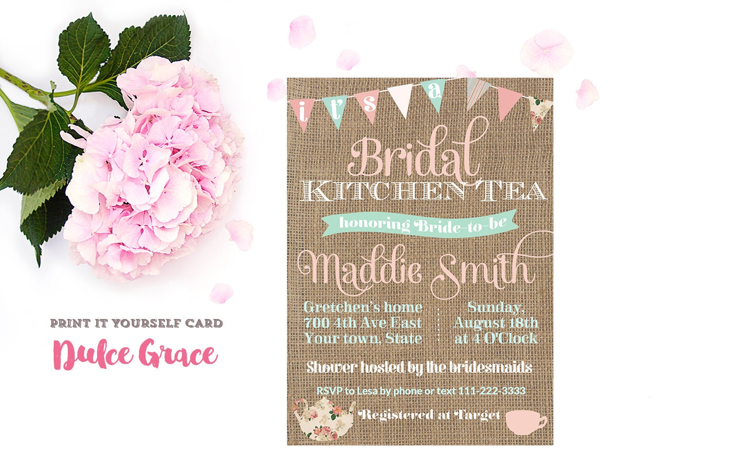 Kitchen Tea Invites Bridal Shower Invitations Bridal Kitchen Tea Invite Bridal