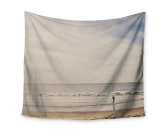 "Wall Tapestry - Brown Gray Beach Sand Myan Soffia ""Ritual"" MC1003A Great Gift Idea!"