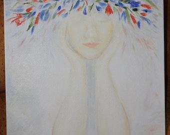 Girl's Dreams Art Oil Painting