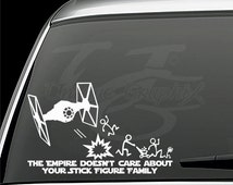 The empire doesn't care about your stick figure family vinyl decal