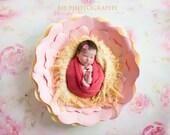Paper Flower Newborn Photo Prop Keepsake - Paper Flowers | Paper Flower Wall Art | Newborn baby photo | Newborn Photo Props