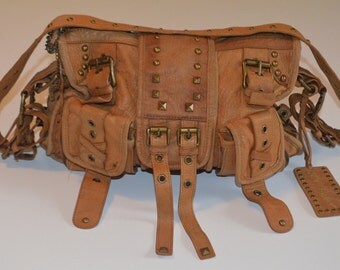 Vintage Betsey Johnson leather handbag