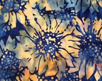 One Fat Quarter of Fabric Material  -  Sunflower Batik