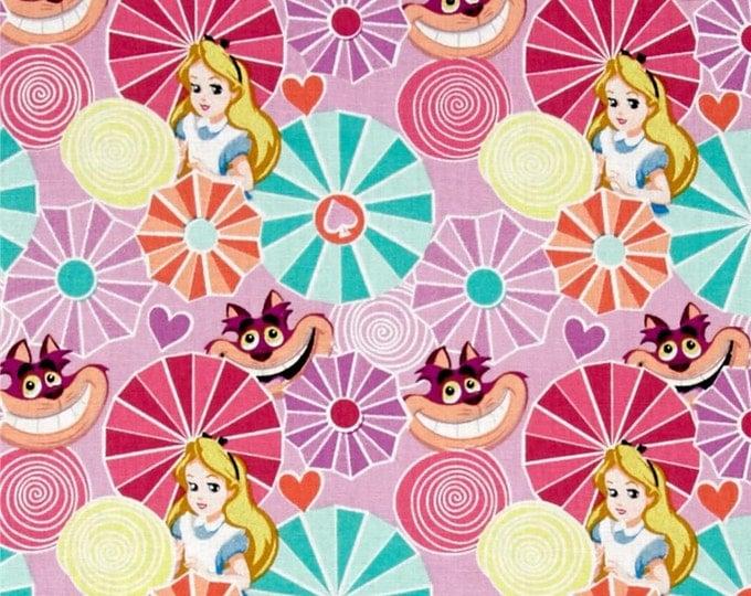Springs Creative - Disney Alice Tea Time - Alice and Cat - Cotton Woven Fabric