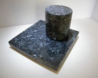 Stone Trivet, Trivet with Canister, Stone Kitchenware Set,Trivet,Canister Jar