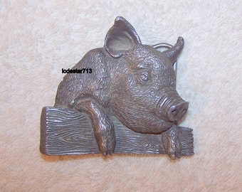 Vintage Belt Buckle, Pig Buckle, Farm Animal, Pigs, Swine,