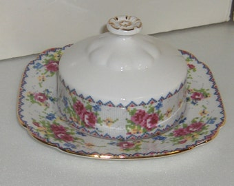 Royal Albert Petit Point Chintz China 778676 Butter Dish Fine Bone China Made in England Free Standard Shipping in the U.S.