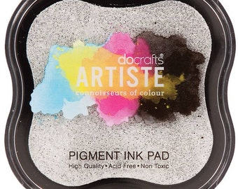 Add ink to your order - Artiste stamp ink pad Metallic Silver