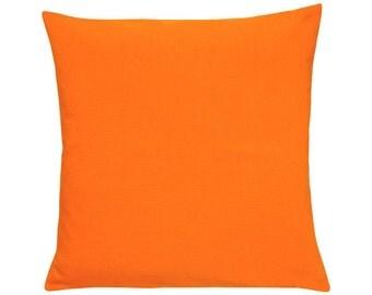 Cushion cover UNI orange canvas 40 x 40 cm