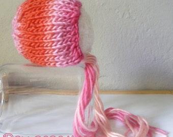 He hood woven pink