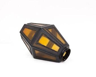 Amber Glass Lamp Globe
