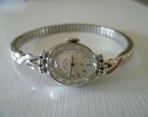 ladies elgin watch, diamond watch,  vintage lady elgin watch, 23 jewel watch, mechanical watch