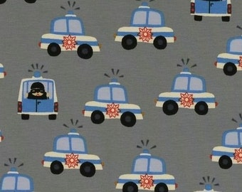 Cops and Robbers: lovely quality jersey knit fabric