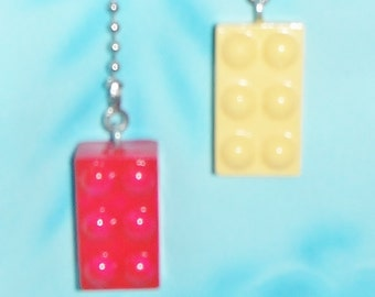 Set of Two - Building Block - Free Shipping - Ceiling Fan Pull Chains