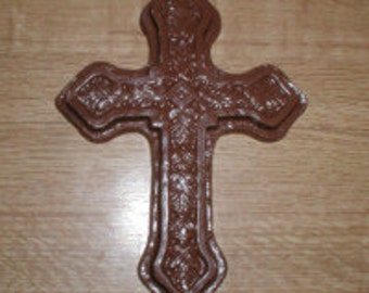Large Ornate Cross Chocolate Mold
