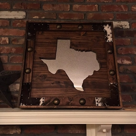 Wooden Texas Recycled Pallet Sign By Rusticrestyle On Etsy: Recycled Wood Texas Mirror Wooden Pallet Texas Mirror Texas