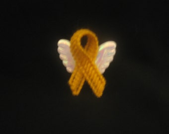 Plastic Canvas Cancer Awareness Angel Magnet