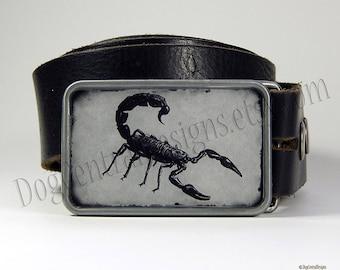Scorpion Belt Buckle Black Choice of Buckle Finish Boyfriend Gift Fathers Day Gift Mens Belt Buckles Womens Belt Buckles Insects
