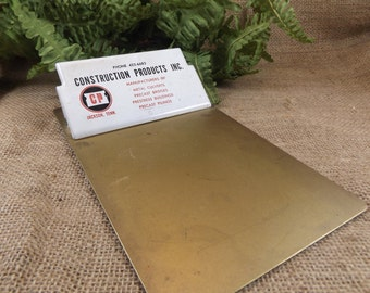 Vintage Metal Advertising Clipboard Construction Products Inc Jackson Tennessee Office Product Desk Accessory