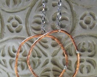 Copper Loop Earrings