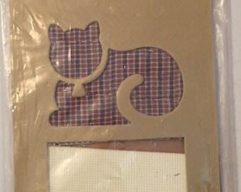 Folk-Heart Cat Mat Kit by Laura J. Conley