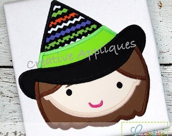 Personalized Halloween Witch Applique Shirt or Onesie for Boy or Girl