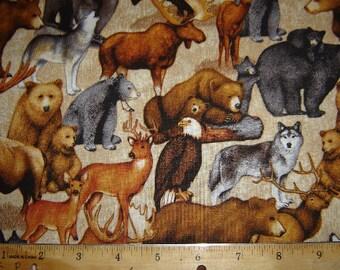 1 Yard Cabin Country Fabric 637